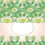 etykietka zieleni kształty Fotografia Royalty Free