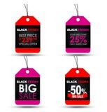Etykietki Black Friday sprzedaż Obraz Stock