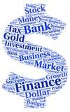 Etykietki chmura na temat finanse Zdjęcie Stock