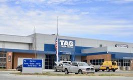 Etykietki ciężarówki centrum, Memphis, TN obrazy royalty free