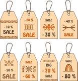 Etykietki dla sprzedaży Zdjęcia Stock