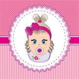 Etykietki dziewczynka Fotografia Stock