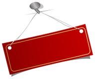 etykietki gwoździa czerwień ilustracji