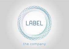 Etykietki ikona dla organizaci lub firmy również zwrócić corel ilustracji wektora Zdjęcia Royalty Free