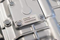 etykietki liczba na silniku Obraz Stock