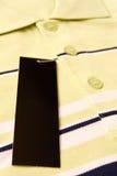 etykietki mężczyzna nowa s koszula Zdjęcia Royalty Free