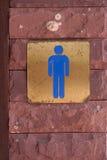 etykietki mężczyzna toaleta Fotografia Royalty Free