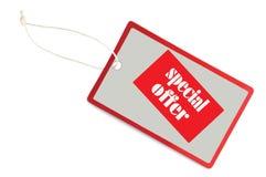 etykietki makro- oferty sprzedaży specjalna etykietka Obraz Royalty Free
