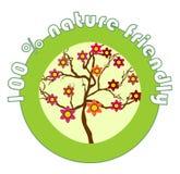 Etykietki 100% natura życzliwa Zdjęcie Royalty Free
