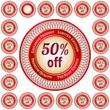 Etykietki od 5 95 procentów rabat Obrazy Stock