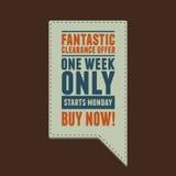 Etykietki oferty rocznika Fantastyczny styl Fotografia Royalty Free