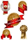 etykietki oferty ustalony dodatek specjalny Fotografia Stock