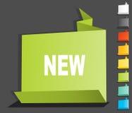 etykietki origami etykietka Obraz Stock