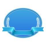 etykietki pusta błękitny osłona Obrazy Royalty Free