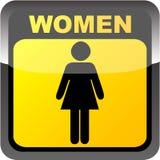 etykietki toalety kobiety royalty ilustracja