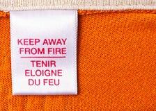 etykietki ubraniowy macro Zdjęcia Stock