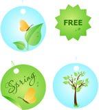 etykietki ustawiać wiosna Fotografia Stock