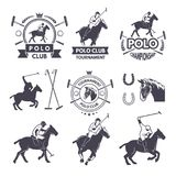Etykietki ustawiają sport rywalizacja dla polo gier ilustracja wektor