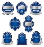 etykietki ustawiający srebny rocznik Obrazy Stock