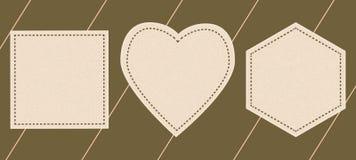 Etykietki w postaci serca, wieloboki, Fotografia Royalty Free