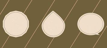 Etykietki w postaci wieloboków, krople Fotografia Stock