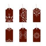 Etykietki z ornamentami one wałkonią się ilustracji