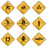 Etykietki zagrożenia ostrzeżenie zdjęcie royalty free