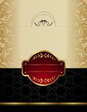 etykietki złocisty wino Zdjęcia Royalty Free