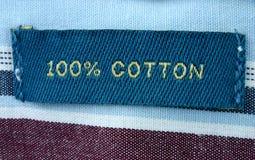 etykiety ubraniowej makro real Obraz Stock