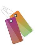 etykiety wektorowe kolorowe Fotografia Stock