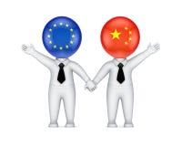 EU中国parthnership概念。 皇族释放例证