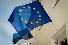 Eu, Европейский союз, флаг Стоковое Фото