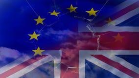 Eu и видео флага Британии акции видеоматериалы
