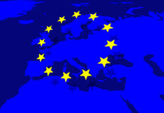 EU. Illustration of the European Union Royalty Free Stock Photo