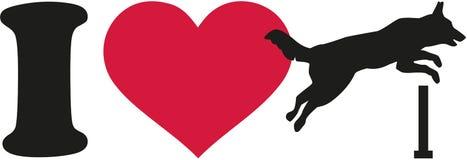 Eu amo a agilidade do cão ilustração royalty free