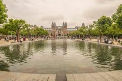 EU AMO AMSTERSAM Rijksmuseum Fotografia de Stock