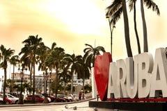 Eu amo Aruba Imagens de Stock