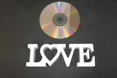 Eu amo as músicas de Romantics neste CD maravilhoso fotografia de stock royalty free