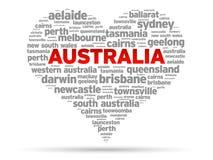Eu amo Austrália ilustração do vetor