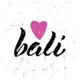 Eu amo Bali Imagens de Stock