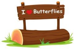 Eu amo borboletas Imagem de Stock Royalty Free