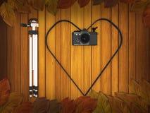 Eu amo a câmera Imagens de Stock