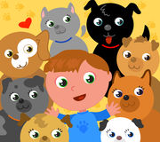 Eu amo cães! Imagens de Stock