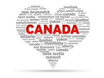 Eu amo Canadá Fotos de Stock