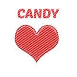 Eu amo a cor cor-de-rosa vermelha e branca do bastão de doces Imagem de Stock Royalty Free