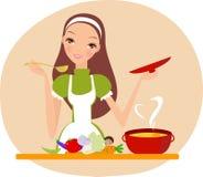 Eu amo cozinhar Imagem de Stock Royalty Free