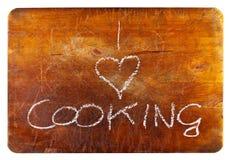 Eu amo cozinhar foto de stock