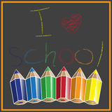 Eu amo a escola Imagem de Stock