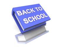Eu amo a escola de volta ao livro grande azul 3d da escola Ilustração do Vetor