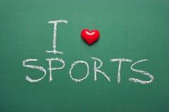 Eu amo esportes fotografia de stock royalty free